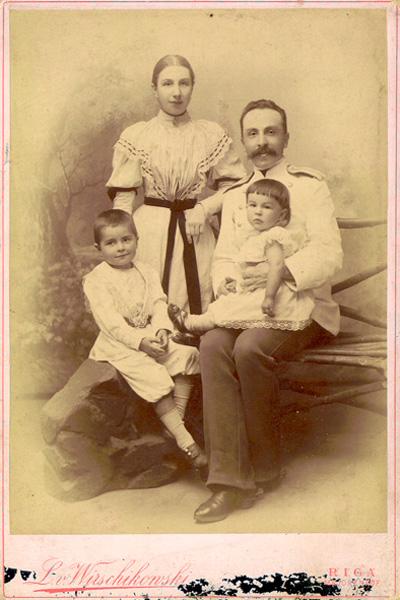 А. В. Жиркевич с семьей