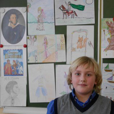 Петя - автор портрета А.С.Пушкина